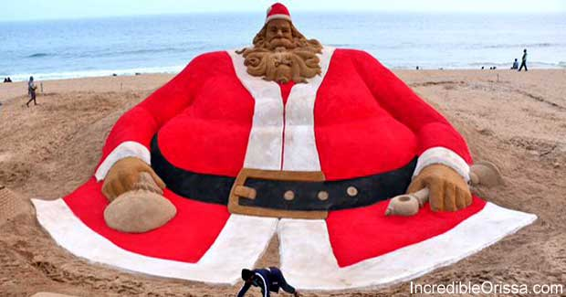 Sand Santa Claus of Sudarsan Pattnaik