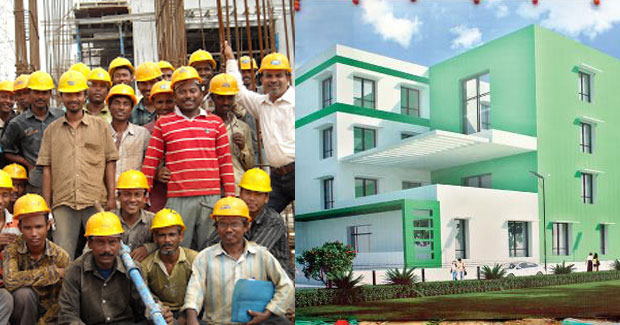shelter homes for labourers