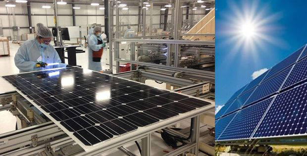 solar panel manufacturing facility