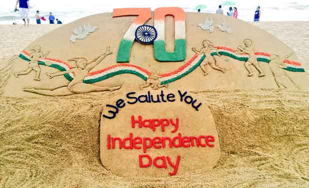 Sudarsan Pattnaik Independence Day sand art