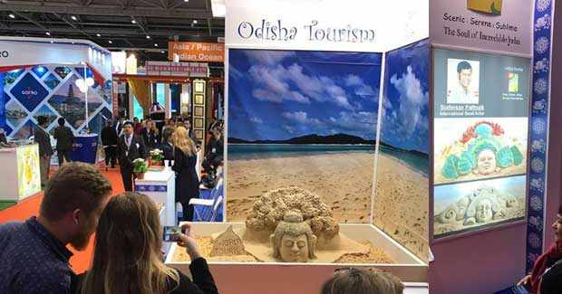 Sudarsan Pattnaik Sand Art at World Travel Market London