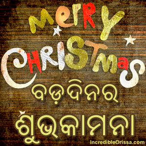 WhatsApp Odia Bada Dina or Christmas image